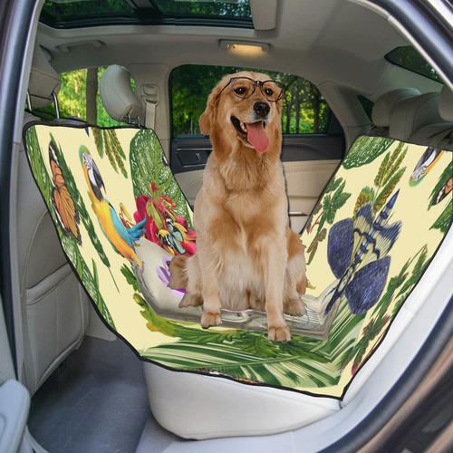collage_tropical skull_gloria sanchez1 Pet Car Seat 55''x58''