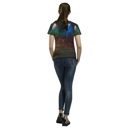 Zombie Disco Dance All Over Print T-Shirt for Women (USA Size) (Model T40)