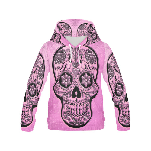 Skull20170490_by_JAMColors All Over Print Hoodie for Women (USA Size) (Model H13)