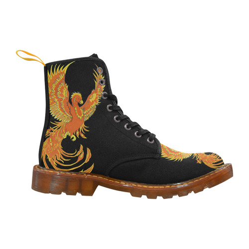 Phoenix Rising Black Martin Boots For Women Model 1203H
