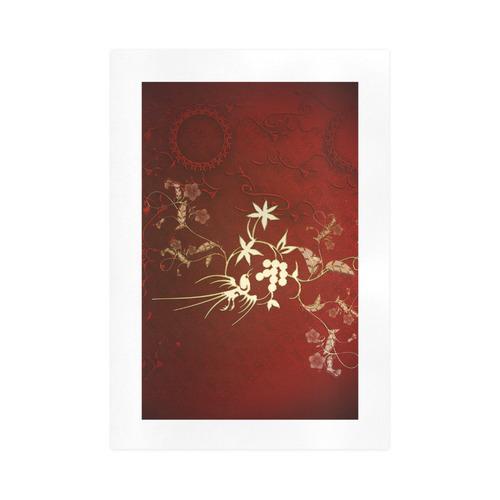 Golden fantasy birds Art Print 16''x23''