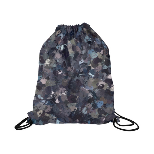 "Shades of Purple Beads 9162 Large Drawstring Bag Model 1604 (Twin Sides)  16.5""(W) * 19.3""(H)"