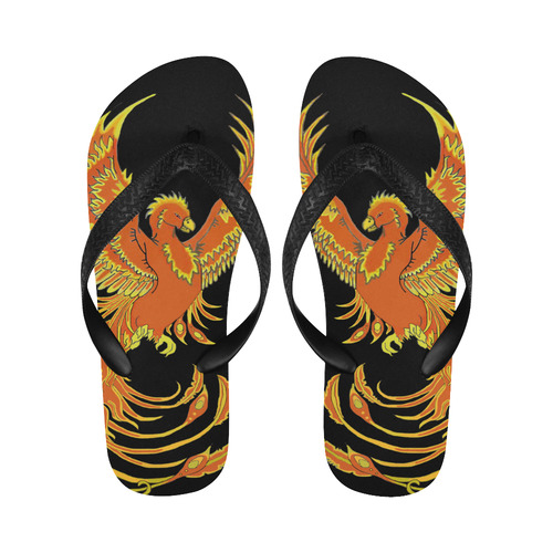 Phoenix Rising Flip Flops for Men/Women (Model 040)