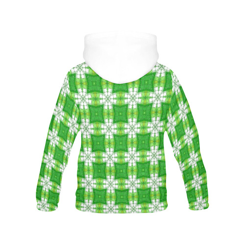 Spring Green All Over Print Hoodie for Women (USA Size) (Model H13)