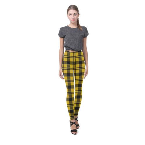 3ca8f7bdcd1fd5 Yellow and Black Tartan Cassandra Women's Leggings (Model L01) | ID:  D1441618