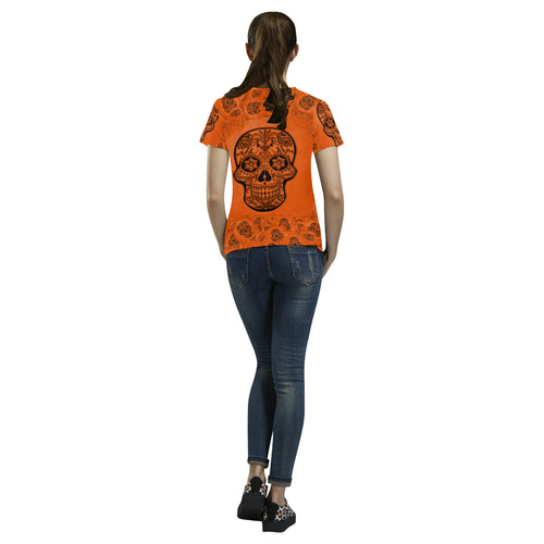 Skull20170250_by_JAMColors All Over Print T-Shirt for Women (USA Size) (Model T40)