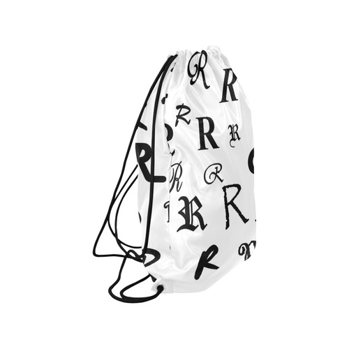 "Monogram R Fonts Medium Drawstring Bag Model 1604 (Twin Sides) 13.8""(W) * 18.1""(H)"