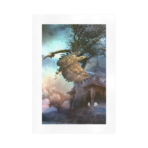 Awesome flying eagle Art Print 16''x23''