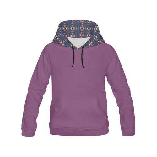 Blue Pinwheels All Over Print Hoodie for Women (USA Size) (Model H13)