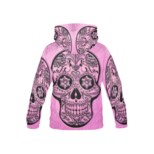 Skull20170490_by_JAMColors All Over Print Hoodie for Kid (USA Size) (Model H13)