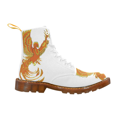Phoenix Rising White Martin Boots For Women Model 1203H
