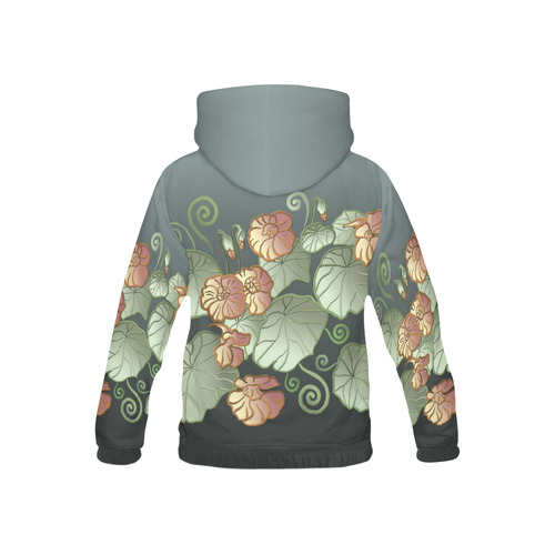Art Nouveau Garden All Over Print Hoodie for Kid (USA Size) (Model H13)