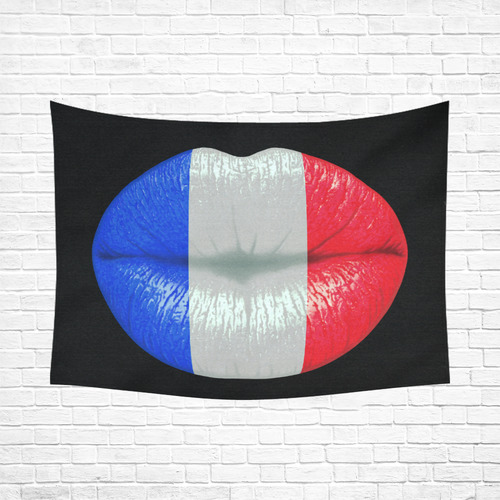 """French smooch Cotton Linen Wall Tapestry 80""""x 60"""""""