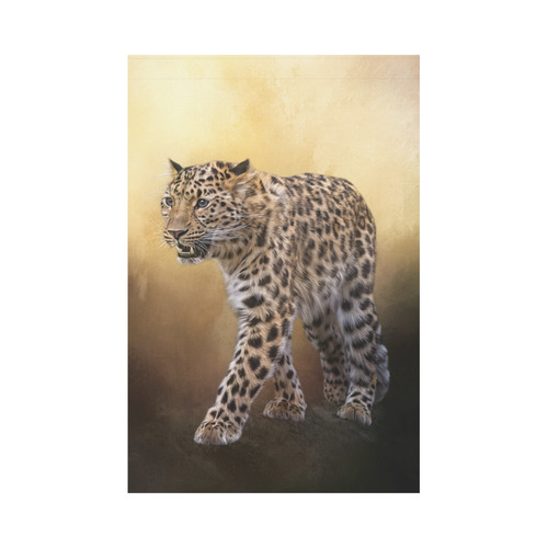 A magnificent painted Amur leopard Garden Flag 12''x18''(Without Flagpole)
