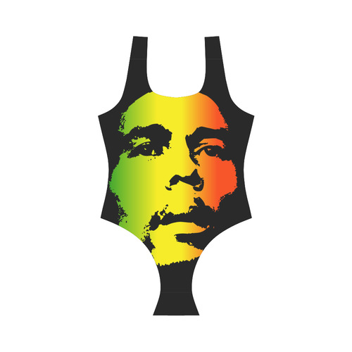 King Of Reggae Bob Marley Vest One Piece Swimsuit (Model S04)