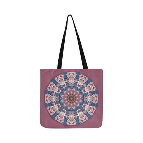 Spring Blossoms, Nature Flower Mandala, purple 001 01 Reusable Shopping Bag Model 1660 (Two sides)