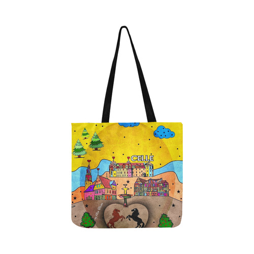 Celle Popart by Nico Bielow Reusable Shopping Bag Model 1660 (Two sides)