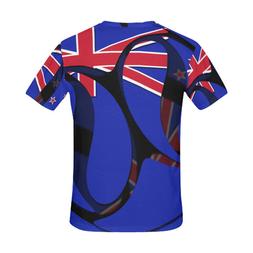The Flag of New Zealand All Over Print T-Shirt for Men (USA Size) (Model T40)