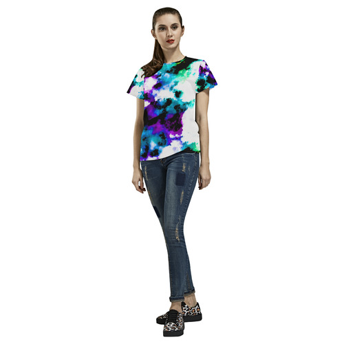 watercolor 26 All Over Print T-Shirt for Women (USA Size) (Model T40)