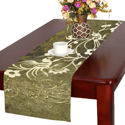 Fantasy birds with leaves Table Runner 16x72 inch