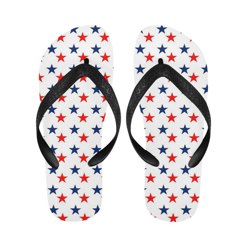 630bd92bf5d Patriotic Navy Blue Red Stars Flip Flops for Men Women (Model 040 ...