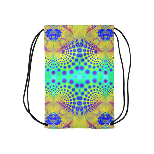Abstract Fractal Print in Blue Sports Bag