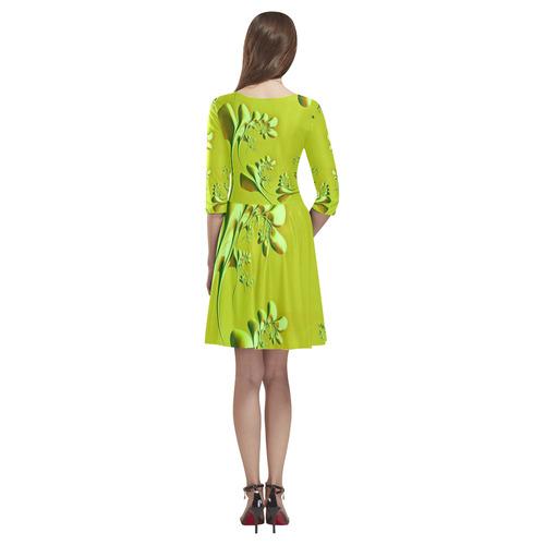 amazing floral fractal C by JamColors Tethys Half-Sleeve Skater Dress(Model D20)