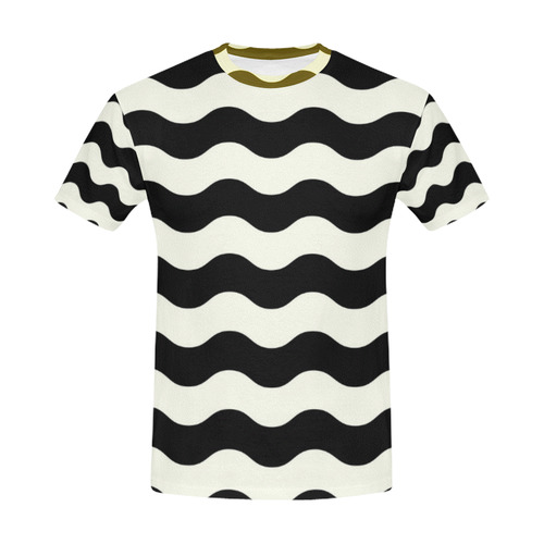 MEN CREATIVE TSHIRT : Old 50 Waves All Over Print T-Shirt for Men (USA Size) (Model T40)