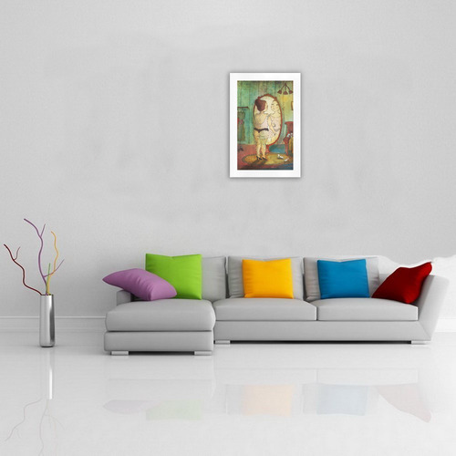 beautiful pretty girl woman lady dress colorful art illustration by agnes laczo Art Print 19''x28''