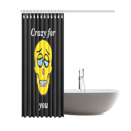 "Crazy Skully by Popart Lover Shower Curtain 69""x84"""