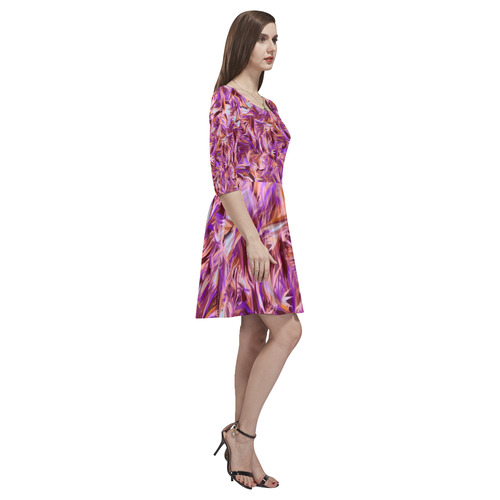 modern abstract 21 A by JamColors Tethys Half-Sleeve Skater Dress(Model D20)