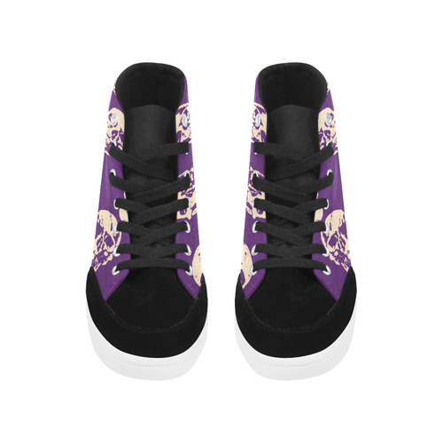 Hot Skulls,purple by JamColors Herdsman High Top Shoes for Women (Model 038)