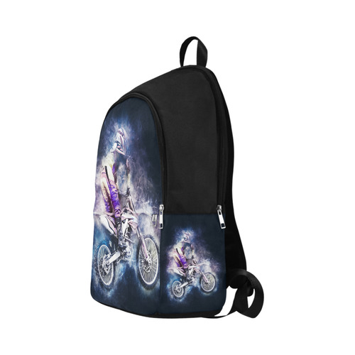 Motocross Motorcycle Motorbike Fabric Backpack for Adult (Model 1659)
