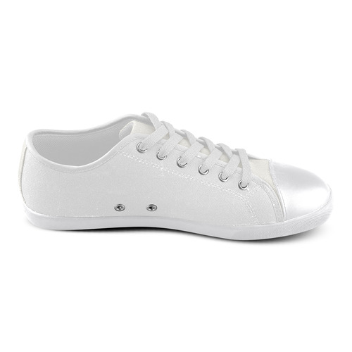 Designers graphic Dogs shoes : black and white Men's Canvas Shoes (Model 016)