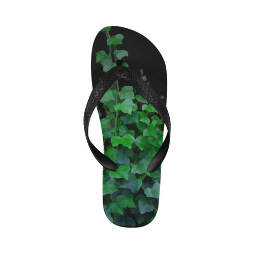 Watercolor Ivy - Vines, plant watercolor Flip Flops for Men/Women (Model 040)