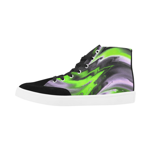 fractal waves D by JamColors Herdsman High Top Shoes for Women (Model 038)