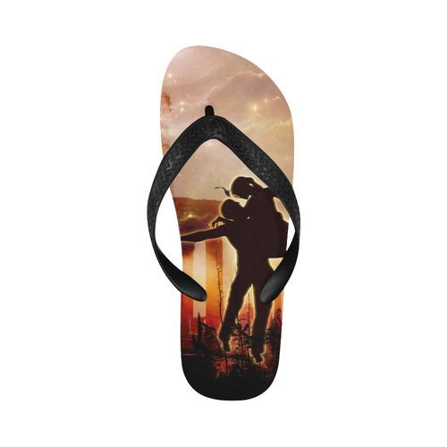 Dancing in the night Flip Flops for Men/Women (Model 040)