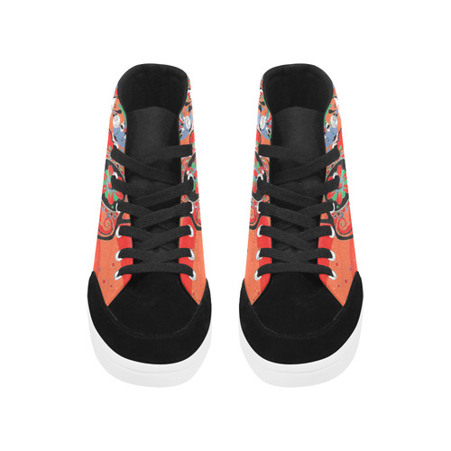 psychedelic Pop Skull 317I by JamColors Herdsman High Top Shoes for Women (Model 038)