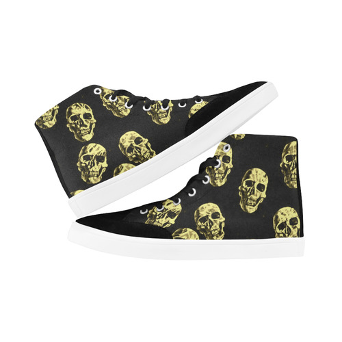 Hot Skulls,eggshell by JamColors Herdsman High Top Shoes for Women (Model 038)
