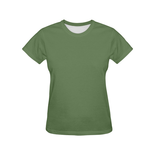 Kale All Over Print T-Shirt for Women (USA Size) (Model T40)