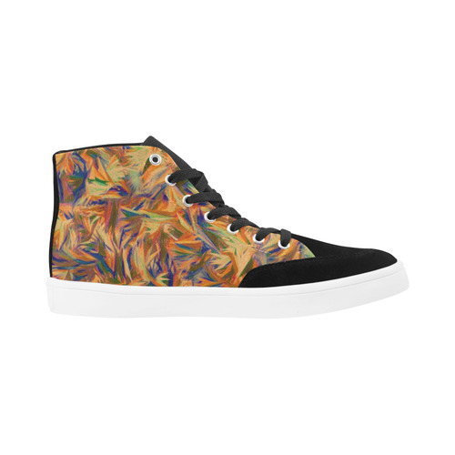 Modern abstract 21 F by JamColors Herdsman High Top Shoes for Women/Large Size (Model 038)