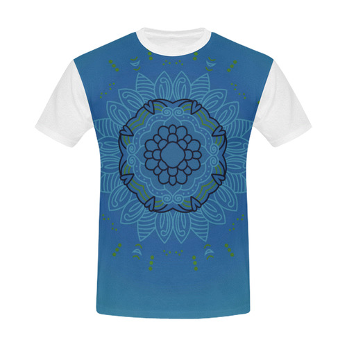 Designers t-shirt Blue mandala / Romance edition. Design shop All Over Print T-Shirt for Men (USA Size) (Model T40)