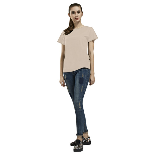 Mother of Pearl All Over Print T-Shirt for Women (USA Size) (Model T40)