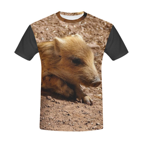 baby Boar by JamColors All Over Print T-Shirt for Men (USA Size) (Model T40)
