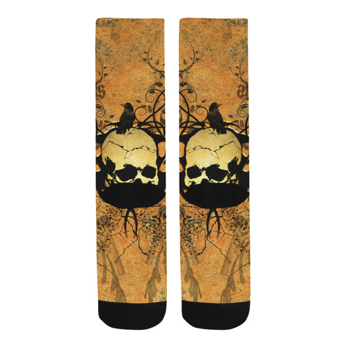 Awesome skull with tribal Trouser Socks