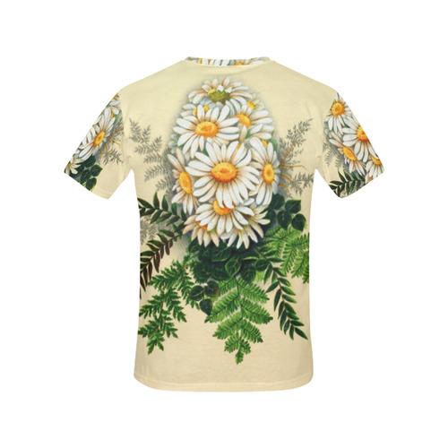 Daisy Easter Egg All Over Print T-Shirt for Women (USA Size) (Model T40)