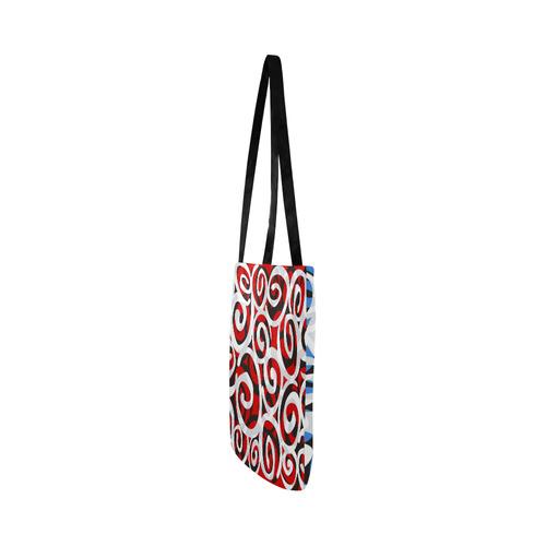 Black White Grey SPIRALS pattern ART Reusable Shopping Bag Model 1660 (Two sides)