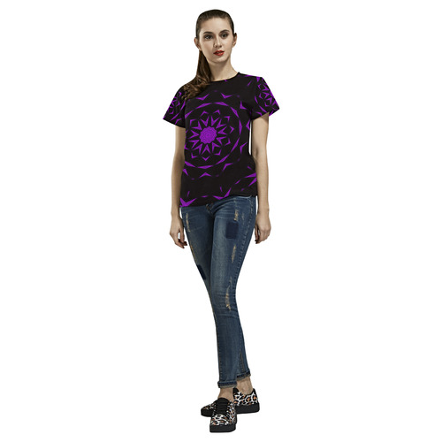 TEST PATTERN All Over Print T-Shirt for Women (USA Size) (Model T40)