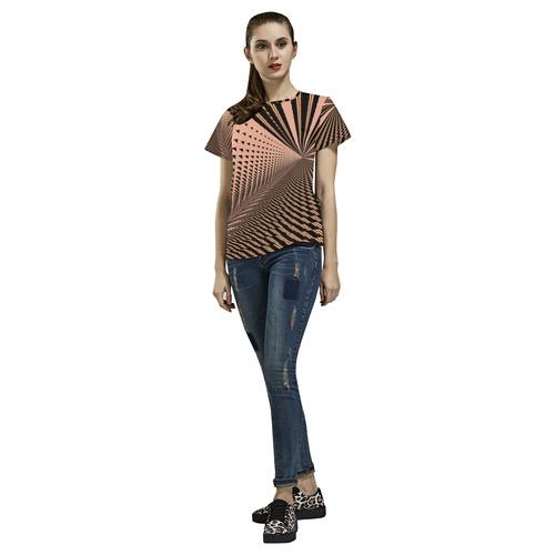 ROCKIN CHOCKIN All Over Print T-Shirt for Women (USA Size) (Model T40)