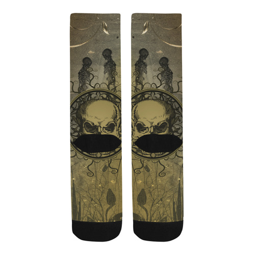 Amazing skull with skeletons Trouser Socks
